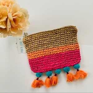 Punta Cana Zipper Pouch with Tassels